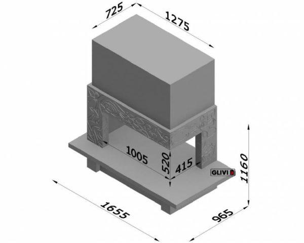 Мраморный каминный портал (облицовка) Флай, каталог (интернет-магазин) каминов из мрамора, изображение, фото 7