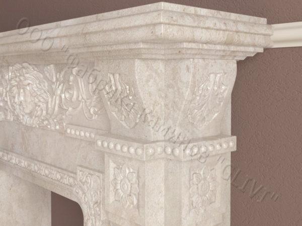 Имитация камина (фальш камин) из камня Форкий, каталог каминов, изображение, фото 4