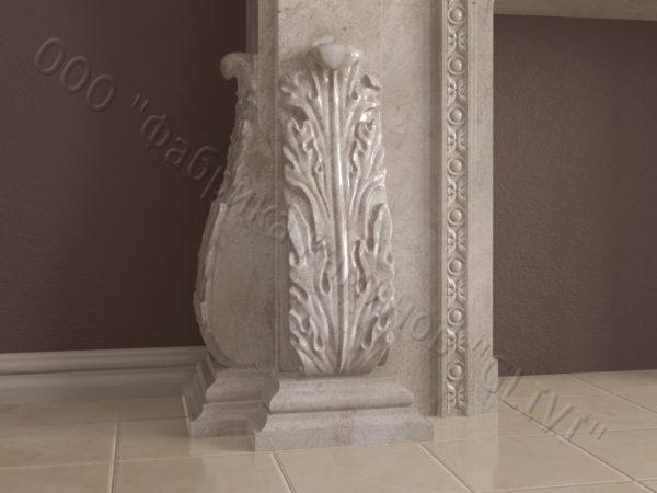 Имитация камина (фальш камин) из камня Форкий, каталог каминов, изображение, фото 5