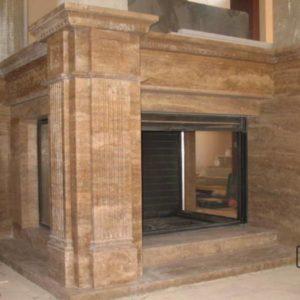 Мраморный камин по индивидуальному проекту Франклин