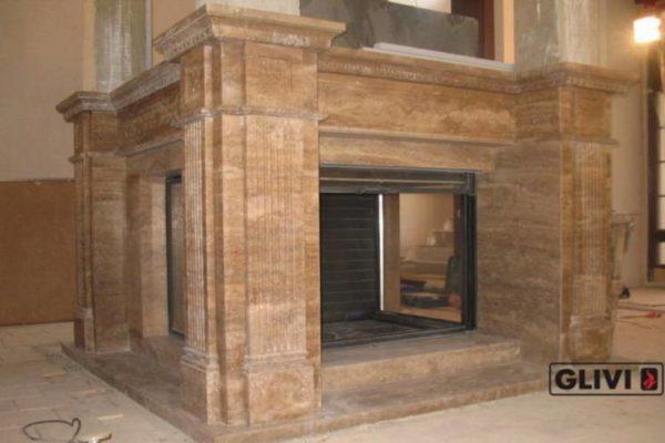 Камин по индивидуальному проекту Франклин, каталог (интернет-магазин) каминов из мрамора, изображение, фото 1