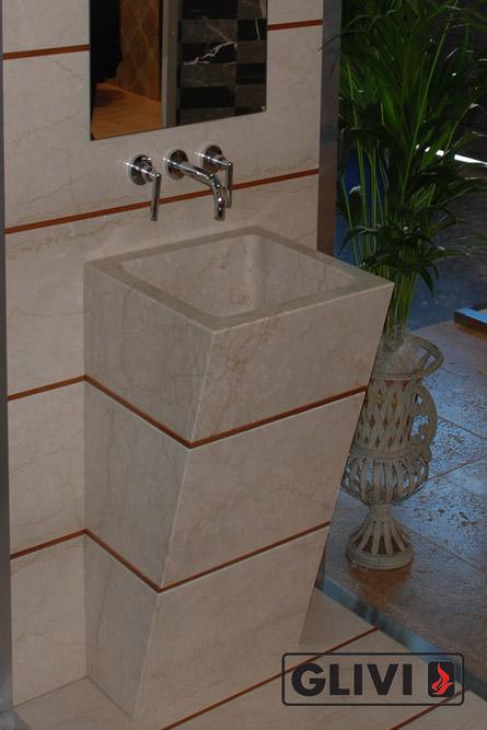 Мраморная раковина (умывальник) Фрона, каталог раковин из камня, изображение, фото 1