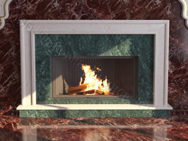 Мраморный каминный портал (облицовка) в восточном (арабском) стиле Гания, каталог (интернет-магазин) каминов из мрамора, изображение, фото 8