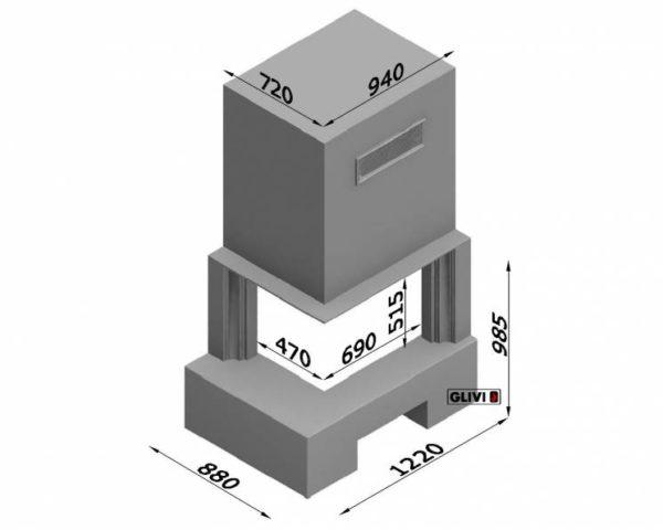 Угловой (пристенный) каминный портал (облицовка) Гейстхед, каталог (интернет-магазин) каминов, изображение, фото 7