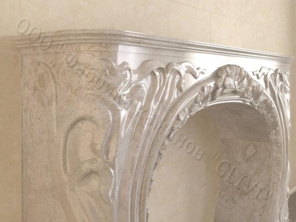 Имитация камина (фальш камин) из камня Генри, каталог каминов, изображение, фото 4