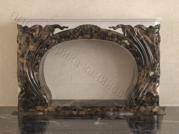 Имитация камина (фальш камин) из камня Генри, каталог каминов, изображение, фото 7