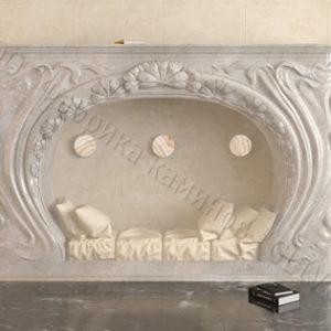 Имитация камина (фальш камин) из камня Генри, каталог каминов, изображение, фото 1