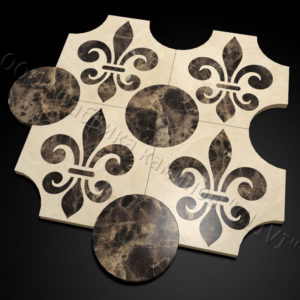 Плитка из натурального мрамора Геральд, изображение, фото 1