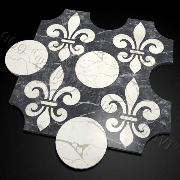 Плитка из натурального мрамора Геральд, изображение, фото 2