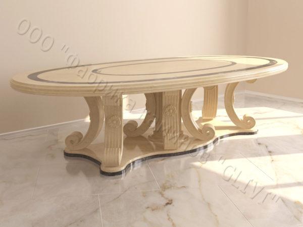 Стол из натурального камня (мрамора) Гербера, интернет-магазин столов, изображение, фото 1