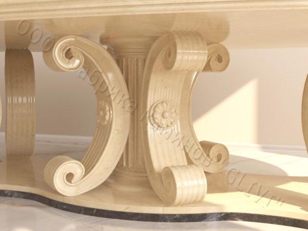 Стол из натурального камня (мрамора) Гербера, интернет-магазин столов, изображение, фото 2