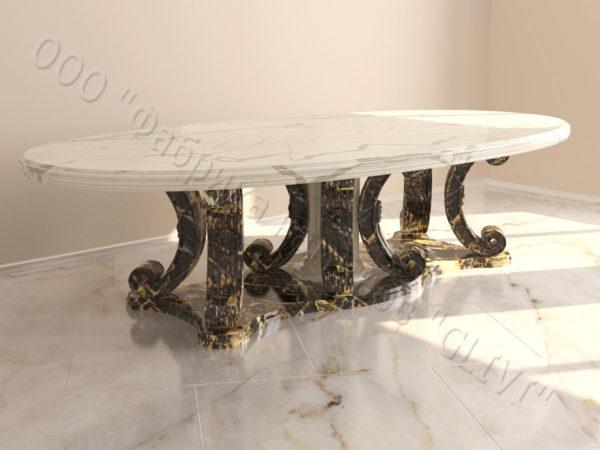 Стол из натурального камня (мрамора) Гербера, интернет-магазин столов, изображение, фото 4
