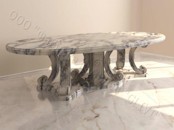 Стол из натурального камня (мрамора) Гербера, интернет-магазин столов, изображение, фото 5