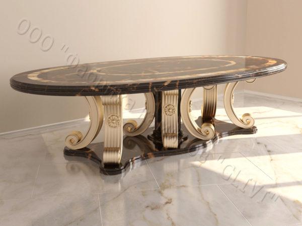 Стол из натурального камня (мрамора) Гербера, интернет-магазин столов, изображение, фото 6