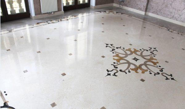 Мозаичный пол из натурального мрамора Гесиона, интернет-магазин полов, изображение, фото 2