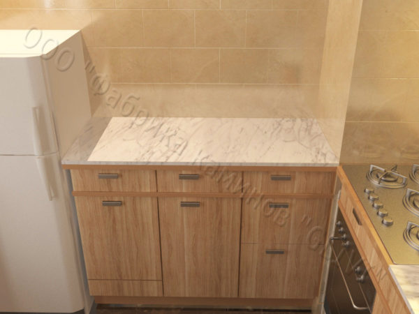 Накрывная столешница из натурального камня (мрамора) Гиперикум, изготовить на заказ, изображение, фото 1