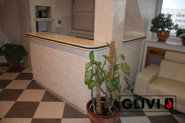 Барная стойка из натурального камня (мрамора) Гливи, изображение, фото 2