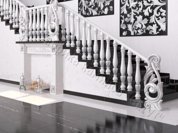 Лестница из натурального мрамора Глориоза, интернет-магазин лестниц, изображение, фото 1