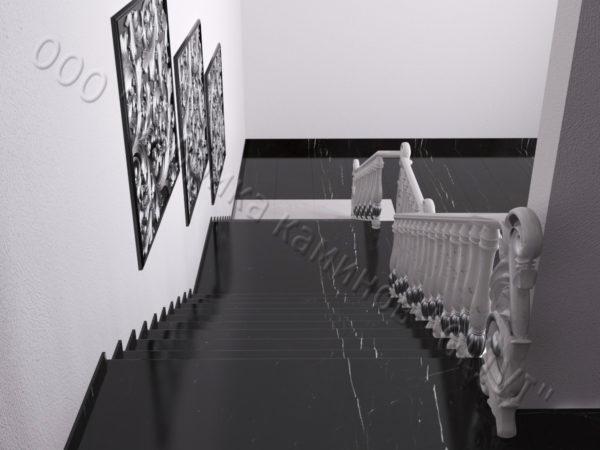 Лестница из натурального мрамора Глориоза, интернет-магазин лестниц, изображение, фото 3
