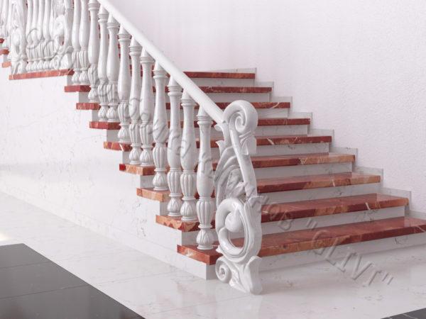 Лестница из натурального мрамора Глориоза, интернет-магазин лестниц, изображение, фото 7