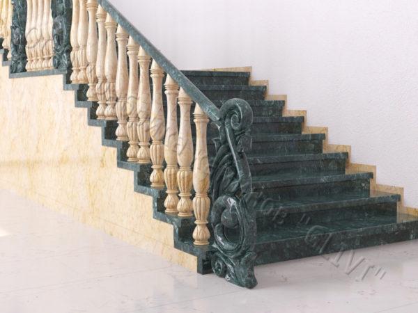 Лестница из натурального мрамора Глориоза, интернет-магазин лестниц, изображение, фото 8