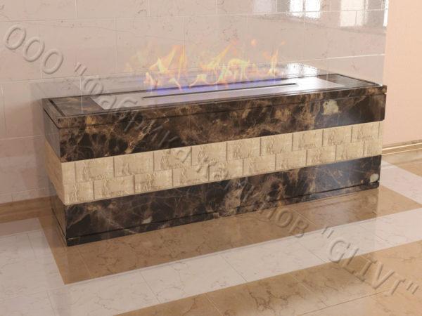 Напольный каминный портал (облицовка) для биокамина Гоку, каталог (интернет-магазин) каминов, изображение, фото 1