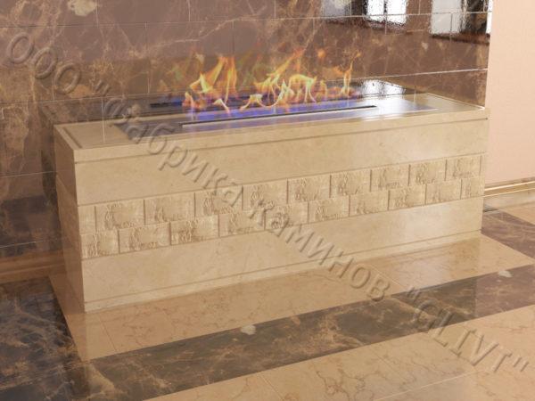 Напольный каминный портал (облицовка) для биокамина Гоку, каталог (интернет-магазин) каминов, изображение, фото 2