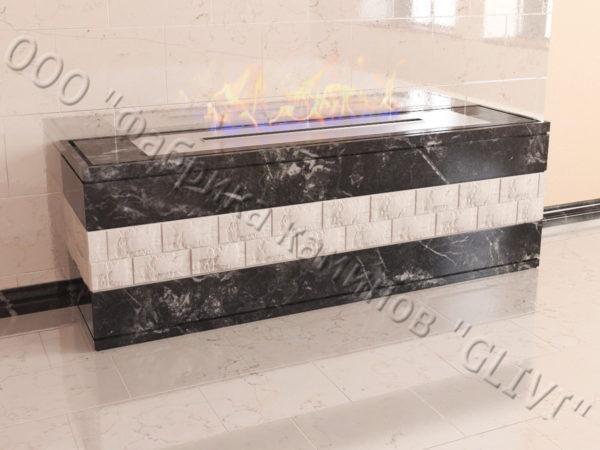 Напольный каминный портал (облицовка) для биокамина Гоку, каталог (интернет-магазин) каминов, изображение, фото 3