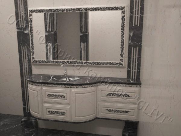 Мраморная раковина (умывальник) Графит, каталог раковин из камня, изображение, фото 1