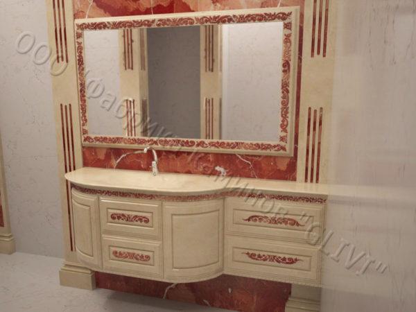 Мраморная раковина (умывальник) Графит, каталог раковин из камня, изображение, фото 6