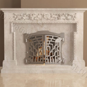 Мраморный камин с открытой топкой Гранди, каталог (интернет-магазин) каминов из мрамора, изображение, фото 2