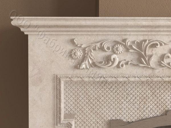 Мраморный камин с открытой топкой Гранди, каталог (интернет-магазин) каминов из мрамора, изображение, фото 5