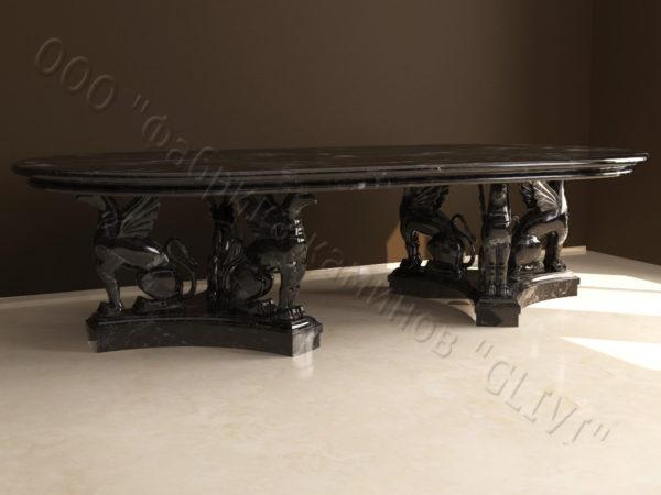 Стол из натурального камня (мрамора) Грифа, интернет-магазин столов, изображение, фото 3