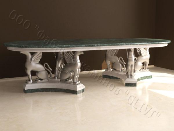 Стол из натурального камня (мрамора) Грифа, интернет-магазин столов, изображение, фото 4