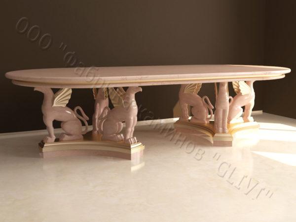 Стол из натурального камня (мрамора) Грифа, интернет-магазин столов, изображение, фото 5