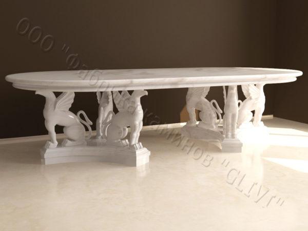 Стол из натурального камня (мрамора) Грифа, интернет-магазин столов, изображение, фото 6