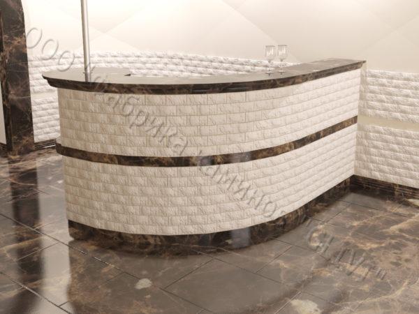 Барная стойка из натурального камня (мрамора) Гвилин, изображение, фото 1