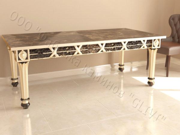 Стол из натурального камня (мрамора) Ханна, интернет-магазин столов, изображение, фото 1