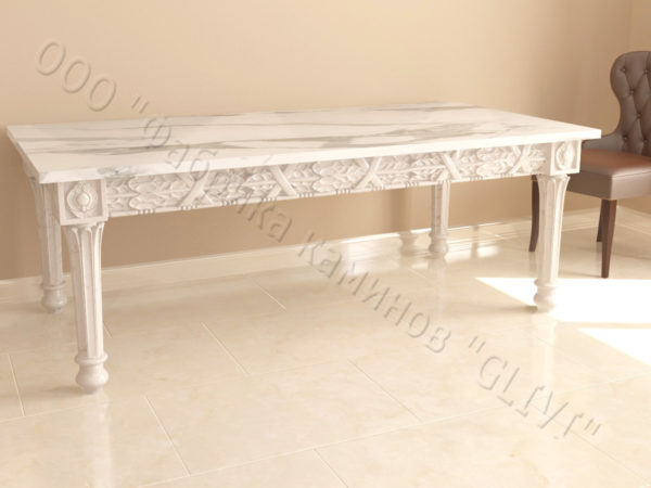 Стол из натурального камня (мрамора) Ханна, интернет-магазин столов, изображение, фото 2