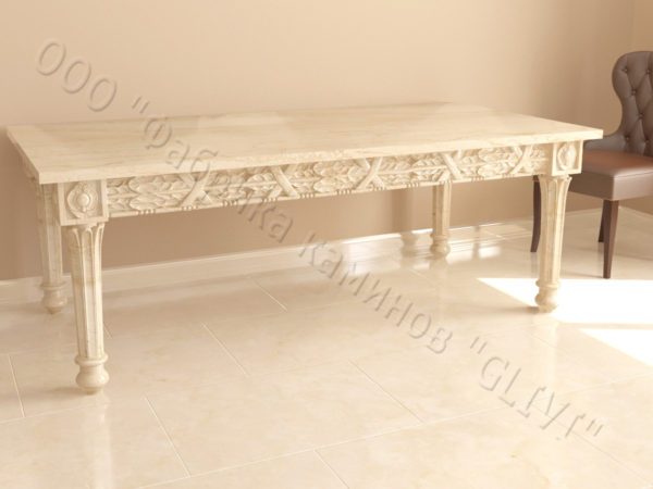 Стол из натурального камня (мрамора) Ханна, интернет-магазин столов, изображение, фото 3