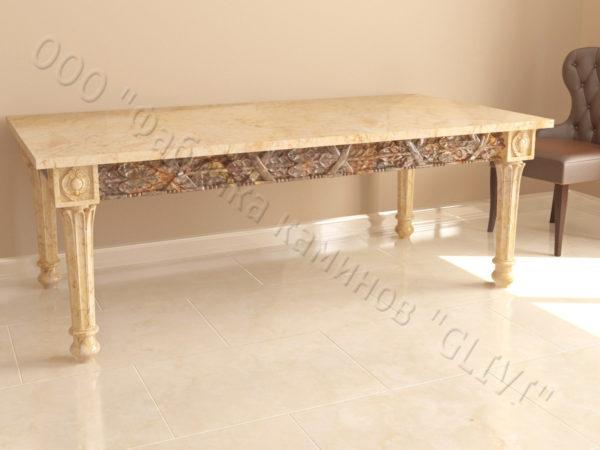 Стол из натурального камня (мрамора) Ханна, интернет-магазин столов, изображение, фото 4