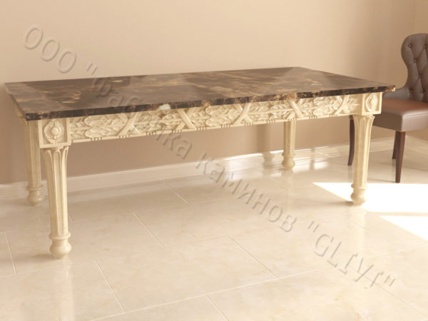Стол из натурального камня (мрамора) Ханна, интернет-магазин столов, изображение, фото 5