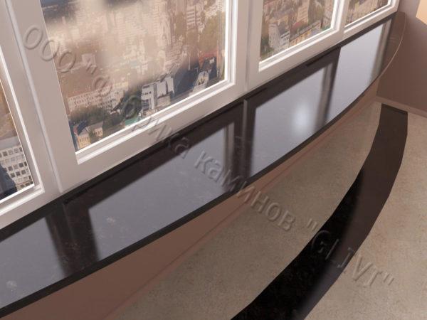 Барная стойка для бара и балкона из натурального камня Идра, изображение, фото 2