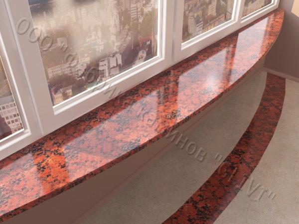 Барная стойка для бара и балкона из натурального камня Идра, изображение, фото 3