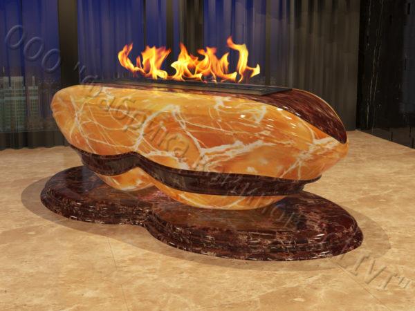 Напольный каминный портал (облицовка) для биокамина Имперо, каталог (интернет-магазин) каминов, изображение, фото 1