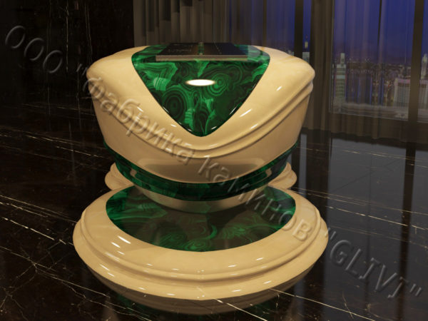 Напольный каминный портал (облицовка) для биокамина Имперо, каталог (интернет-магазин) каминов, изображение, фото 4