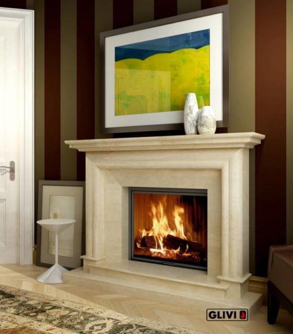 Мраморный каминный портал (облицовка) Итака, каталог (интернет-магазин) каминов из мрамора, изображение, фото 1