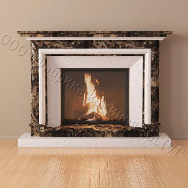 Мраморный каминный портал (облицовка) Итака, каталог (интернет-магазин) каминов из мрамора, изображение, фото 3