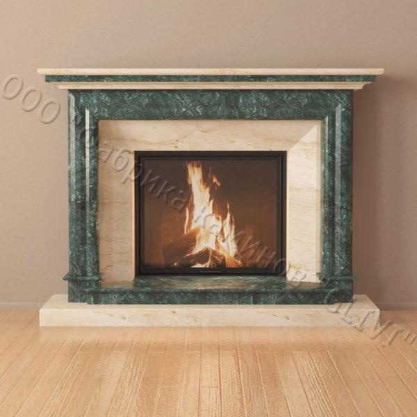 Мраморный каминный портал (облицовка) Итака, каталог (интернет-магазин) каминов из мрамора, изображение, фото 6
