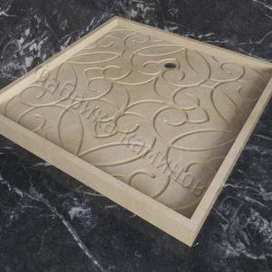 Поддон для душа Джина мраморный, каталог душевых поддонов из камня, изображение, фото 1